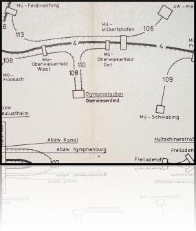 Abzw Oberwiesenfeld - München-Olympiastadion